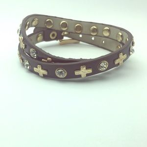 Snap on Bracelet with Crosses